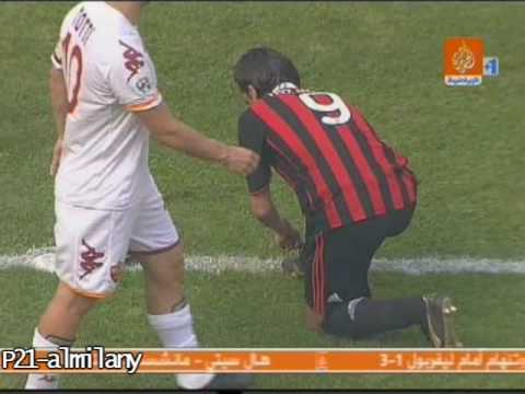 totti hit Inzaghi butt