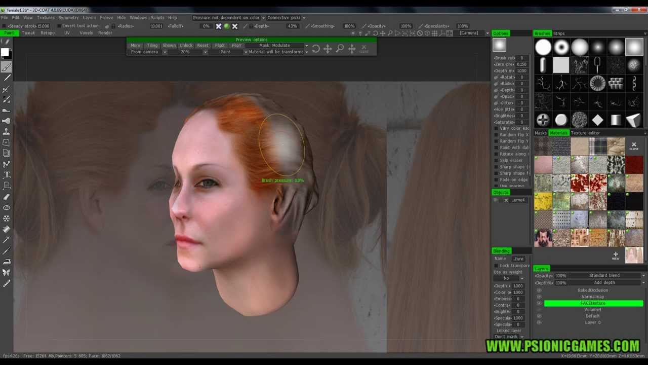 3D Coat Texture a head using reference images 2 YouTube