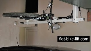 Flat-bike-lift: The Ceiling Hydro-pneumatic Bike Rack