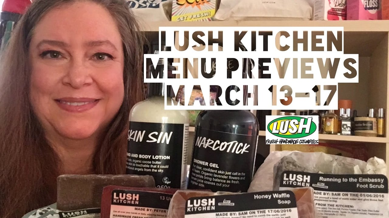 Lush Kitchen Menu March 13-17 - YouTube