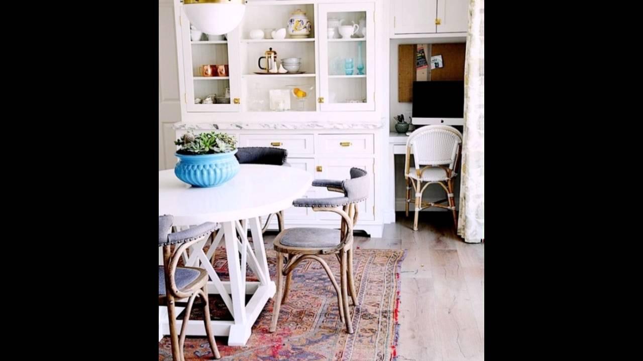 Weiße Möbel Vintage Teppich Retro Stühle - YouTube