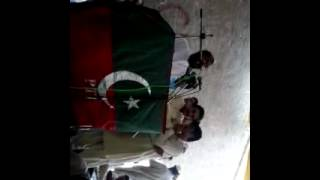 PTI BANNU,ORGANIZER PK-71  ANWAR KHAN addressing at his hujra at Qamar kilah on 29th ju 2012 jalsa