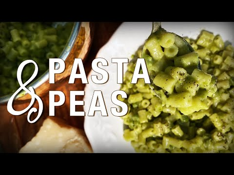 Pasta & Peas, Classic Italian Recipe - The Pasta Queen