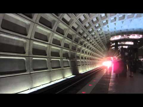Washington DC Metro Blue Line at Foggy Bottom Station by Preston Tsao