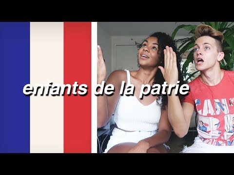 TRYING TO LEARN THE FRENCH NATIONAL ANTHEM 🇫🇷  Damon and Jo