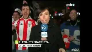 soccer fan gets freaky with reporter