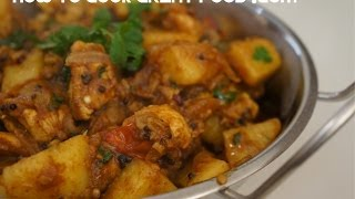 Chicken & Potato Curry Recipe Indian Cooking