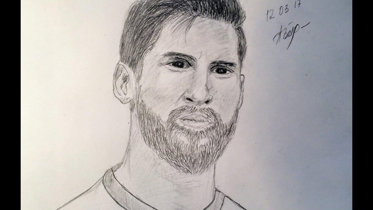 Рисовать футболиста месси видео