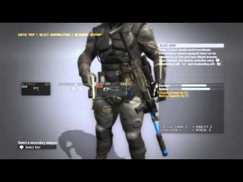 metal gear solid 5 the phantom pain - unlocking all bionic arms