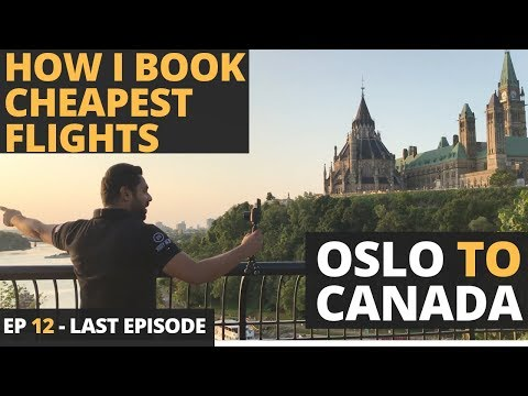 Episode 12 - Norway To Canada - 40 Hour Flight - Rs. 24,000 - Sweden Denmark And Norway In Rs 65,000