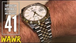 Short Reviews of the Breitling SuperOcean Heritage 2 + Rolex Datejust 41 Jubilee