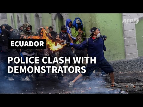Police clash with demonstrators in Ecuador in ongoing protests | AFP