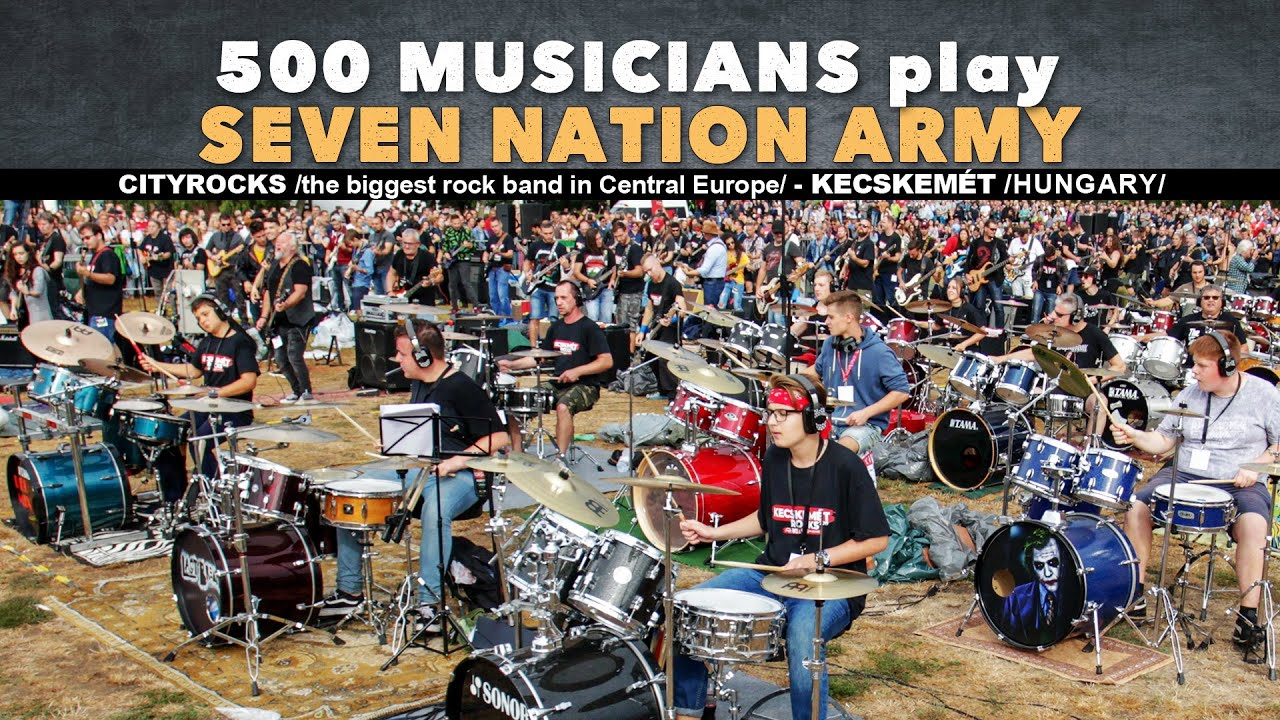 Seven Nation Army - The White Stripes - 500 musicians rock flashmob - CityRocks cover (official)