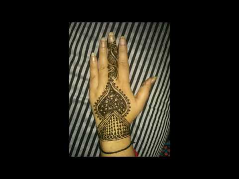 Easy Mehndi Designs Photos Slide For Front And Back Hands 2017