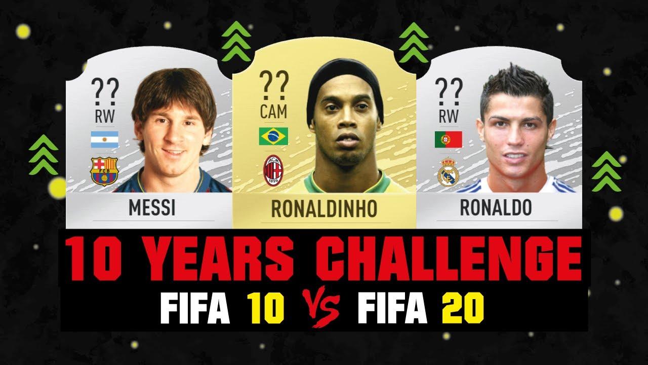 10 YEARS CHALLENGE THEN AND NOW 😱🔥| FIFA 10 VS FIFA 20