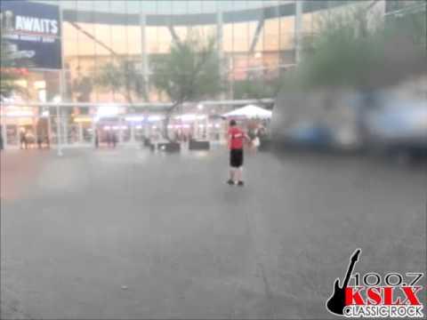 100.7 KSLX Playing In The Rain At Paul McCartney