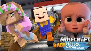 Minecraft BABY HELLO NEIGHBOUR - LITTLE KELLY GETS THE BOSS BABIES MONEY BACK  - Donut The Dog