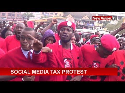 Social media tax protest