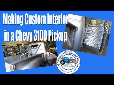 Bead Rolling Custom Interior in a Chevy Pickup 3100!