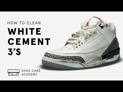 To Clean Air Jordan 3 White Cement