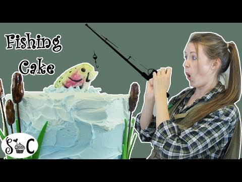 Go Fishing CAKE – How To Make A Fishing Themed Birthday Cake| Sweetwater Cakes