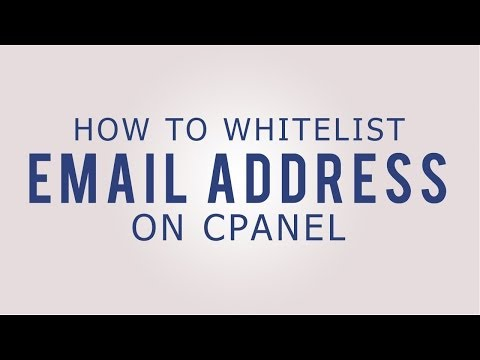 How to whitelist an email address on cPanel