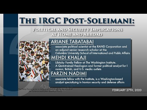 The IRGC Post-Soleimani: Political and Security Implications at Home and Abroad