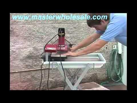 mk 370 tile saw demonstration video