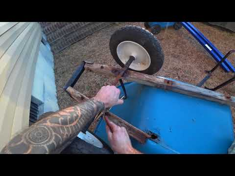 DIY How to replace wooden wheelbarrow handles and upgrade them to steel handles