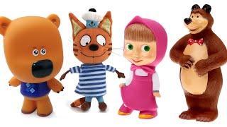 Мультики з іграшками Маша і Ведмідь + мі-МІ-ВЕДМЕДИКИ і ТРИ КОТА іграшки і сюрпризи для дітей