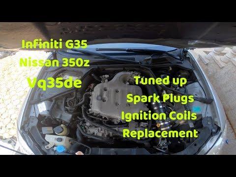 Spark Plugs Ignition Coil Replacement 350z / G35 Vq35de