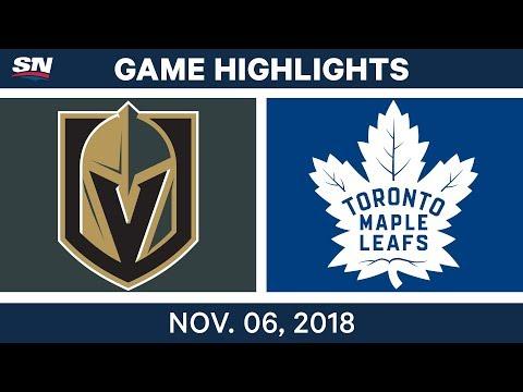 NHL Highlights | Golden Knights vs. Maple Leafs – Nov. 6, 2018