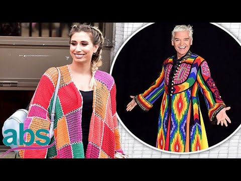 Stacey Solomon resembles Joseph in her Technicolor- inspired cardigan    ABS US  DAILY NEWS