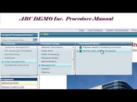 NotoWare Procedure Management Job Knowledge Video
