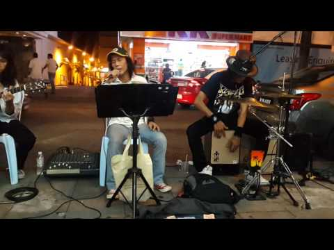 Wind Of Change -The rock legend busker from Malaysia cover scorpion,nice song