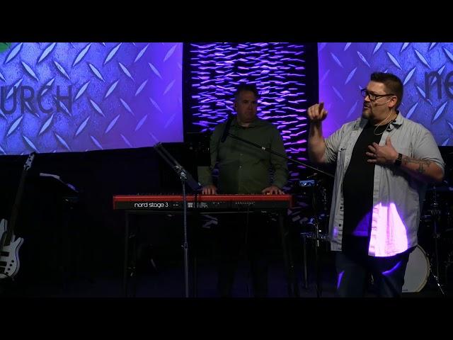 Pastor CJ bringing the Word.