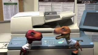 "Dinosaurs at the Office ""Makin' Copies"""