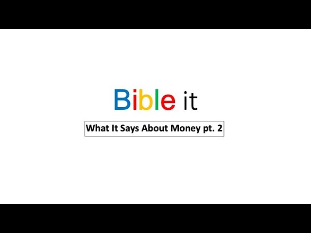 Christway Oct. 4| Bible it What about Money pt. 2