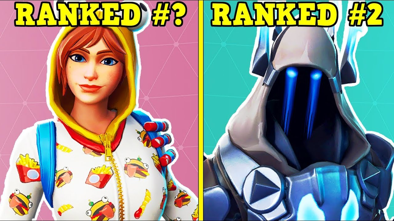 Ranking Every Season 7 Battle Pass Skin From Worst To Best Fortnite Battle Royale Youtube