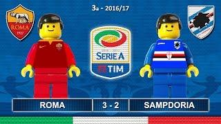 Roma Sampdoria 3-2 • Serie A 2017 (11/09/2016) goal highlights sintesi Lego Calcio