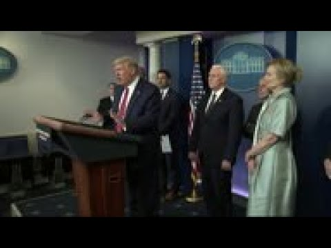 Trump spars with Fauci, reporter on unproven drug