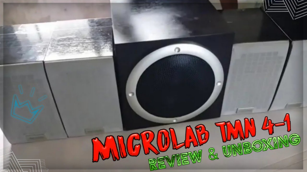 Unboxing Review Microlab Tmn 4 1 Subwoofer Speaker System Youtube