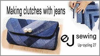 up cycling 27/upcycle/미니 클러치 만들기/Making clutches with jeans/청바지로 만든 가방/Make a bag