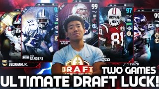 BEST DRAFTS I'VE DRAFTED BACK TO BACK! 2 GAMES! DRAFT LUCK! MADDEN 17 DRAFT CHAMPIONS