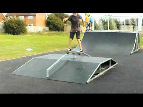 A Few Boardslides on a Fun Box Rail