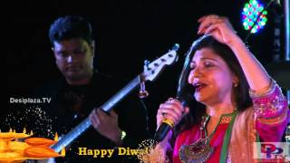 Alka Yagnik singing Taal Se Taal Mila song at DFWICS Diwali Mela 2015 at Dallas