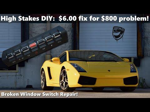 DIY Lamborghini Gallardo Window Switch Repair (on the cheap!)