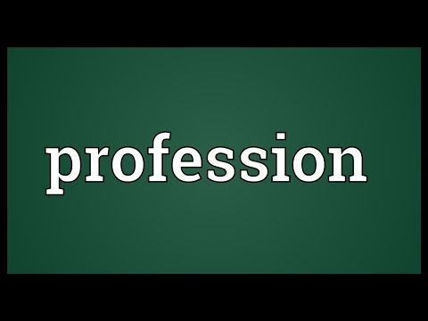 Profession Meaning