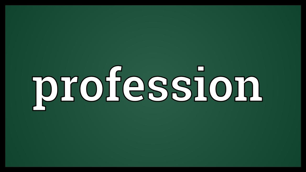 Profession Meaning Youtube