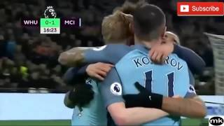 manchester city vs west ham 4-0 (01-02-2017)